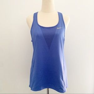 Nike Zonal Cooling Blue Singlet Size S